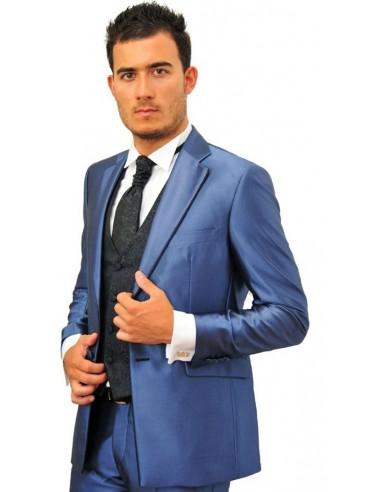 Vestito Matrimonio Uomo Blu Elettrico : Vestito da cerimonia uomo con profilo colorato
