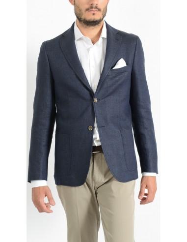 buy popular 2f57c cc581 Giacca Uomo Sportiva Elegante Blu sfoderata - Gente e Moda
