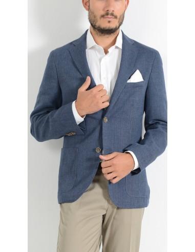 giacca estiva uomo blu elettrico