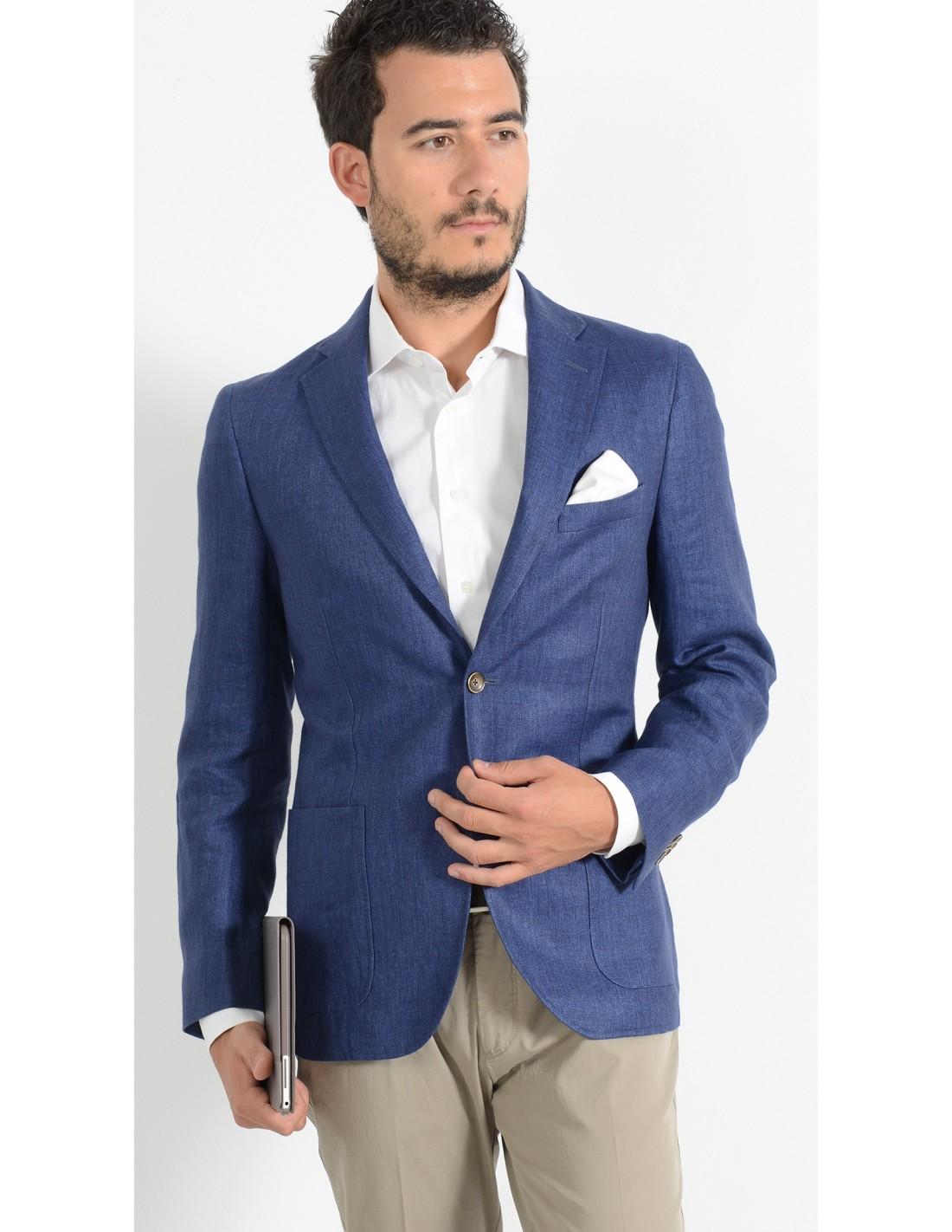 Outfit Matrimonio Uomo Spezzato : Giacca blu elettrico milano