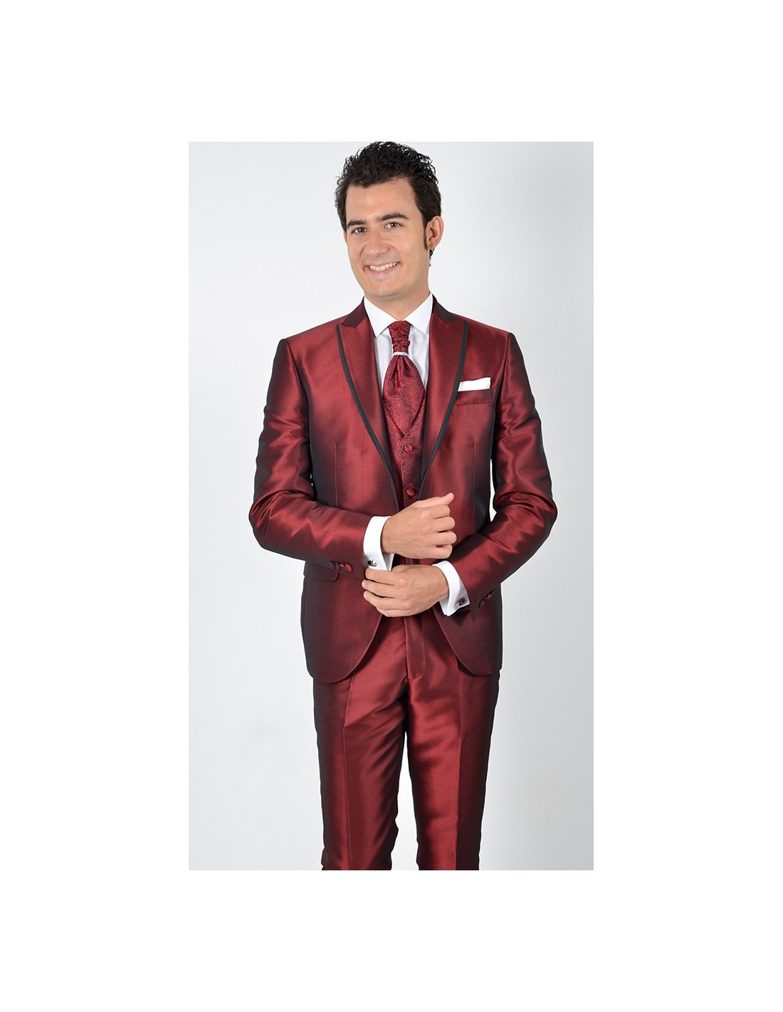 Vestito Matrimonio Uomo Rosso : Abito sposo rosso lucido