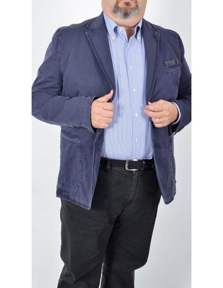 Giacca Blu Cotone