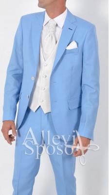 abito azzurro cerimonia