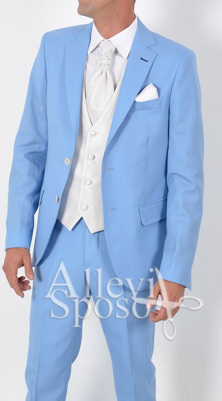 Vestito Matrimonio Uomo Azzurro : Uomo blazer elegante slim fit vestito di affari cappotto