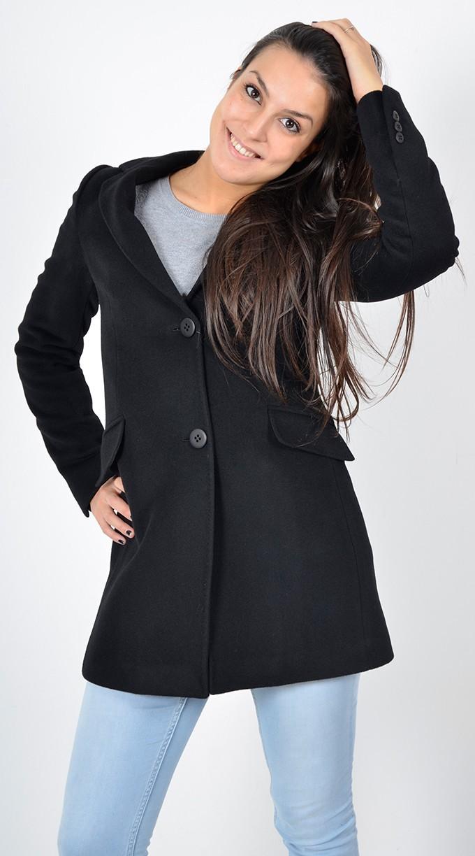 Cappotto donna nero corto