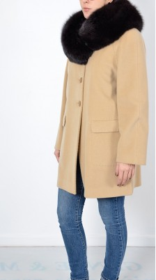 Cappotto corto donna Beige