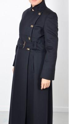 Cappotto Nero Donna Doppiopetto