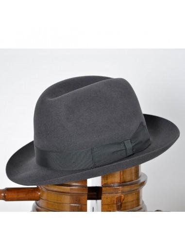 cappello classico grigio borsalino 79fb95424221