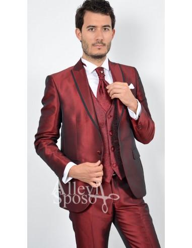 Vestito Matrimonio Uomo Azzurro : Abito sposo rosso lucido uomo gente moda