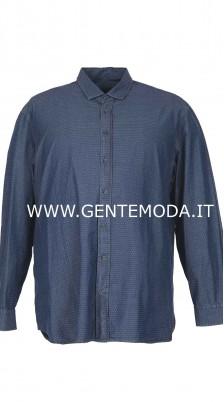 Camicia microlavorata azzurra