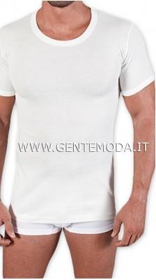 Girocollo maglietta intimo filo di scozia