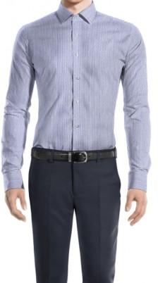 Camicia Bastoncino riga Fine Slim