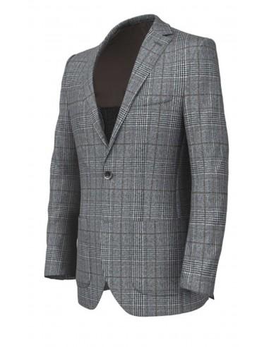 Giacca principe di Galles Grigio in lana di tasmania ef7feea5a9f