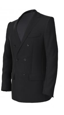 giacca doppiopetto blu
