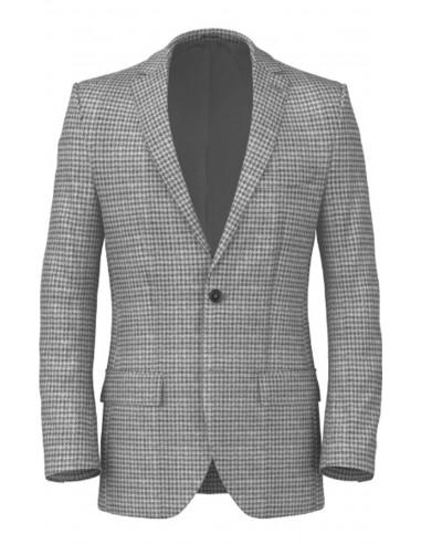 Giacca macro piedipull Grigio pregiata lana di tasmania cebfb8c6517