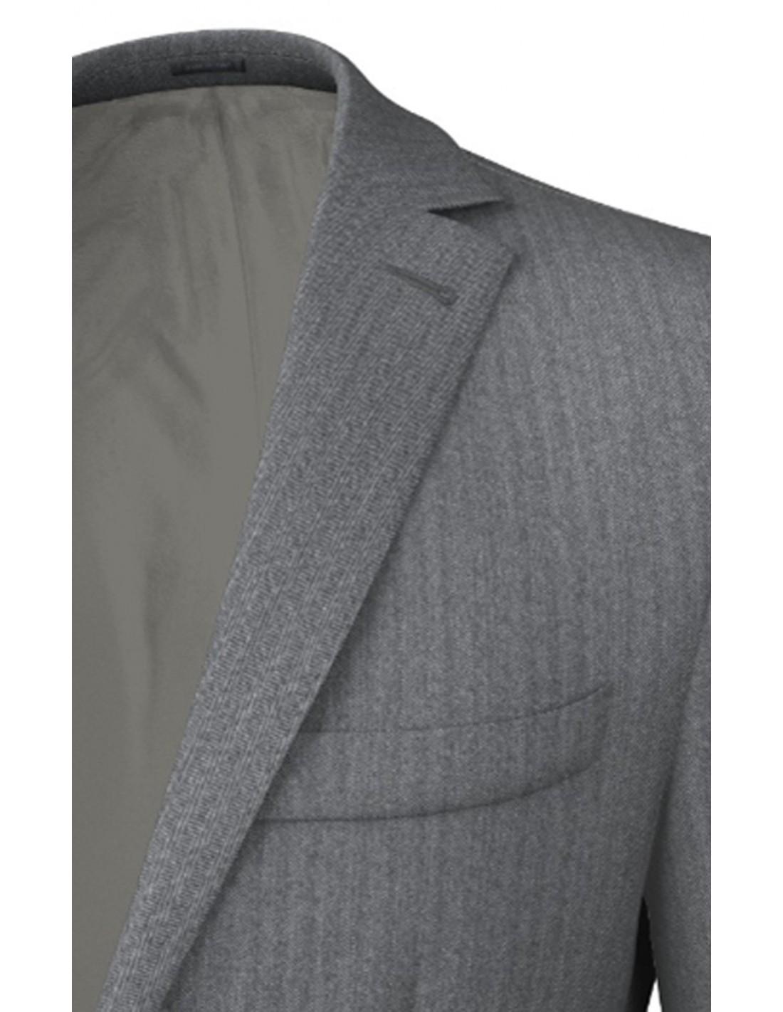 Classica Spinato Grigio Giacca Inglese Uomo Tweed In deEQxWrBCo