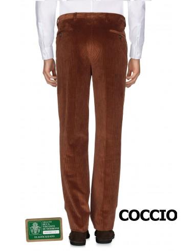 Pantalone uomo TAGLIE FORTI taglia 67 classico velluto a coste calibrato grigio