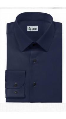 Camicia Blu Cotone Ritorto