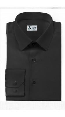 Camicia Nero Cotone Easy
