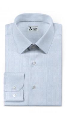 Camicia MicroDisegno Azzurro