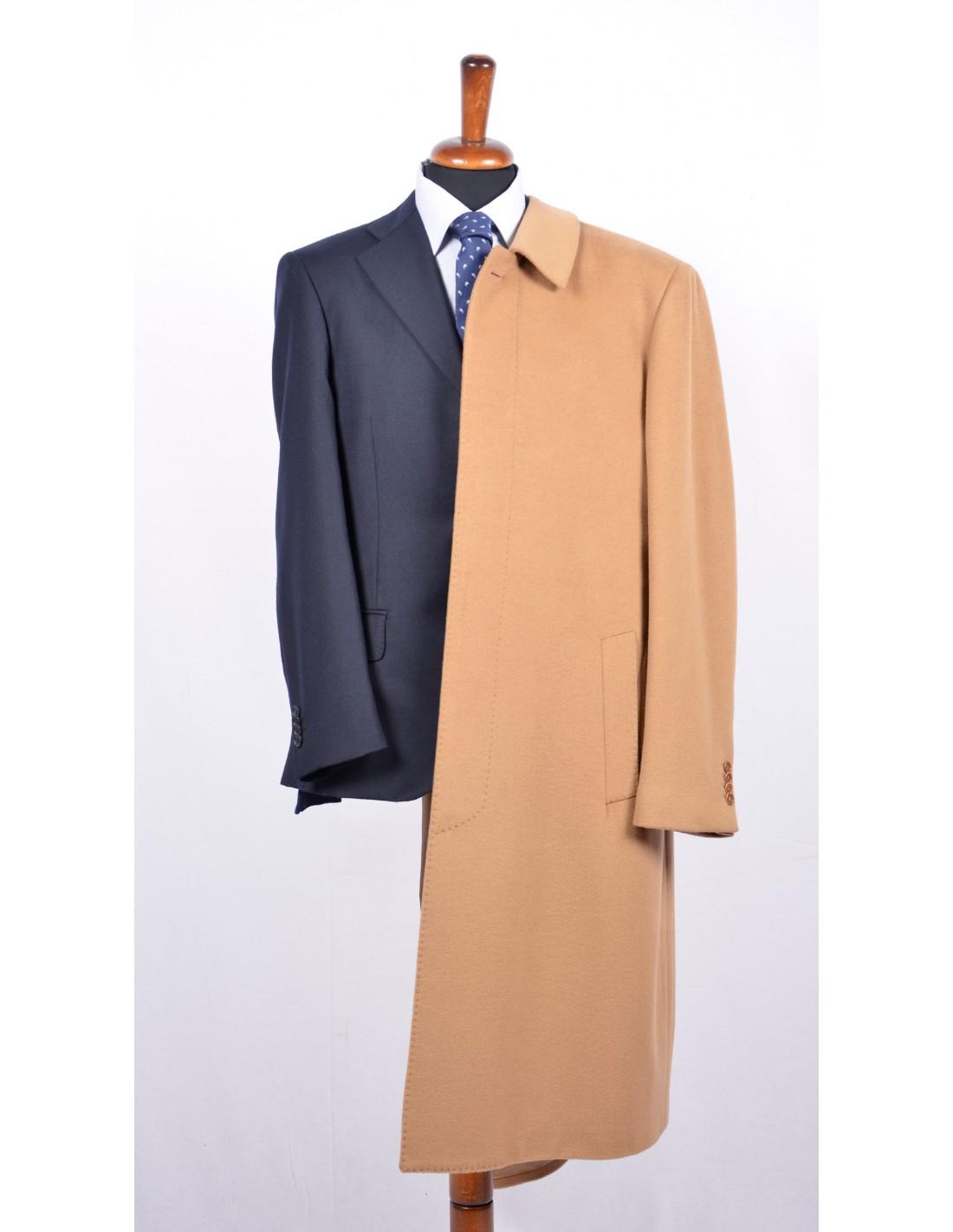 Acquista Nuovi Uomini Boutique Di Moda Colore Puro Cappotto Di Lana Di Alta Qualità Trench Business Maschio Il Tempo Libero Misto Lana Spolverino