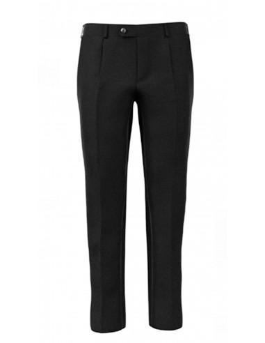 Pantalone con pinces in lana tela...