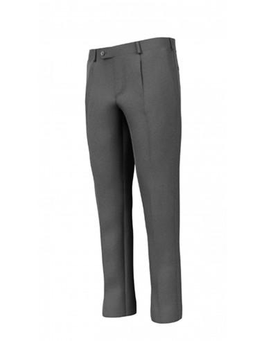 Pantalone con pinces lana tela grigio...