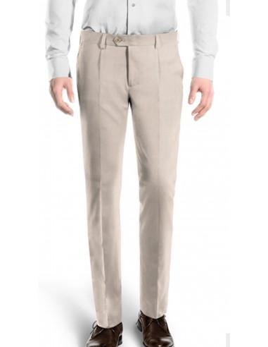 Pantalone con pinces cotone gabardina...