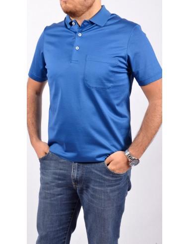 Polo Filo Scozia Bluette