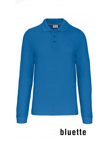 Polo Cotone Manica lunga Bluette A / I