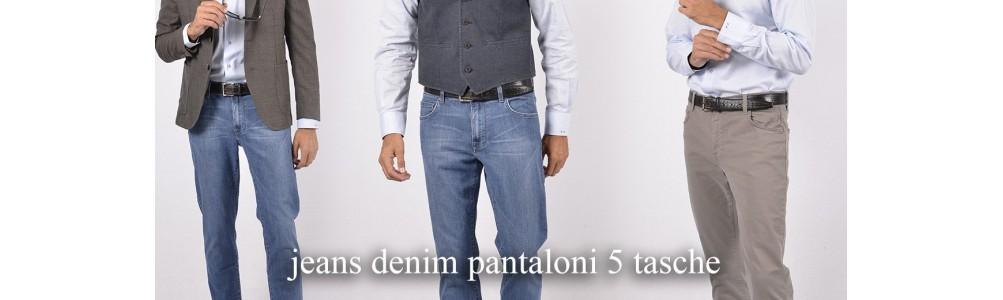 Jeans Denim e 5 tasche Pantaloni uomo