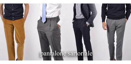 Pantaloni Sartoriali Lana, Velluto, Lino, Cotone