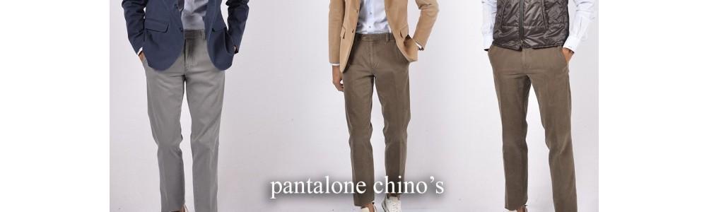 Pantaloni chino's Tasca america cotone Uomo