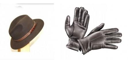 Cappelli Borsalino e guanti in pelle