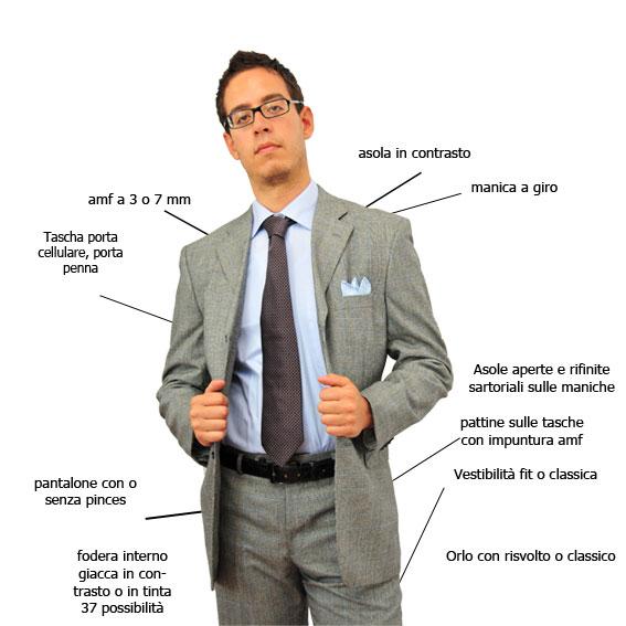 Vestiti uomo su misura on line